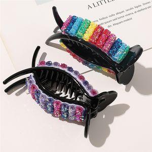 6 farbe Ins Neue Candy Hair Pins Mode Regenbogen Haarnadel Mädchen Bun Maker Haarklammern Klemme DIY Werkzeug Haarschmuck Großhandel DHF4062