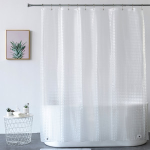 Bathroom Accessories bath curtain Heavy Duty 3D Eva Clear Shower Curtain Liner Set for Bathroom Waterproof Curtains
