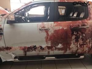 Prémio Rusty Camouflage Vinyl Film oxidação auto-adesivo de carro envoltório da folha com Air Release DIY Styling Embrulho Etiqueta