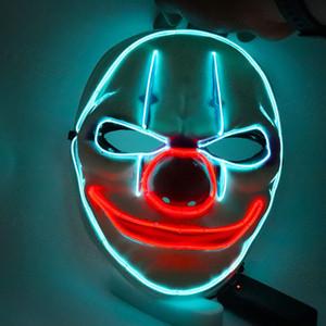 Бесплатная доставка Payday 2 Клоун Маска Payday2 игры Тема Хэллоуина маски Светящиеся линии Праздник Реквизит партии Маски F0703