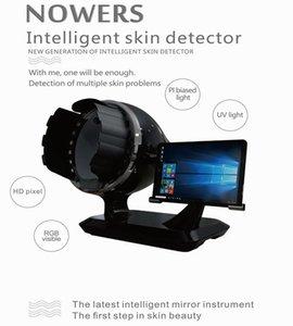 Bitmoji Ai inteligente de la piel del Facial del detector del escáner Analizador de la piel 3D Magic Mirror Trispectral Pruebas de análisis rápido de la máquina con un cojín