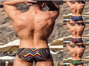 Swim Clothes Summer Beach Panelled Print Swimming Trunks Mens Designer Swimwear Board Shorts Sexy Male Sports Seaside