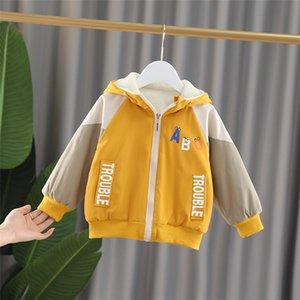 Toddler Baby Boy Girl Winter Warm Bear Ears Hooded Windproof Coat Kid Children Fashion Thicken Cotton Outwear Wear Sides Jacket