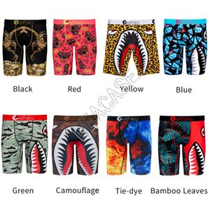 54 Styles Mens Boxer Shorts Men Underwears Boxers Briefs Fashion Cartoon Shark Face Beach Shorts Swim Trunks ClothesD82502