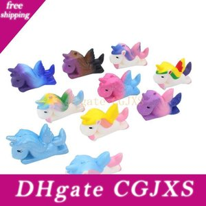 10color Kawaii Pu Slow Rebound Unicorn Pegasus Squishy Resin Crafts Creative Ornaments Decompression Cartoon Toy M016