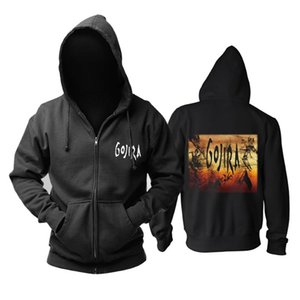 Bloodhoof Gojira heavy metal hommes Top zipper à capuche Taille asiatique
