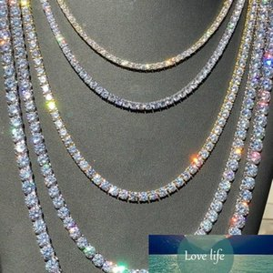 Gorgeous Women Men Gold Silver Tennis Chain Icy Diamonds Hip Hop Choker Chain Necklace Bling Jewelry