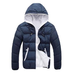 Men's Down & Parkas 2021 Hooded Winter Zipper Coat Outwear Jacket Hip Hop Fashion Mens Men Clothes Boys Casual Warm