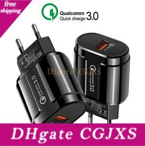 Real Quick Charge 3 0,0 5v 3 Единый порт зарядки США Plug Europe Travel Phone Charger Black White
