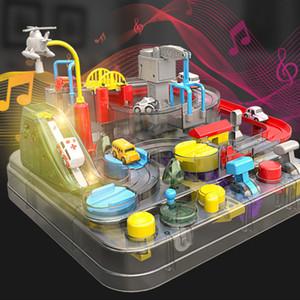 Yeni ürün araba atılım macera parça şeffaf vücut hafif müzik parçası araba erken eğitim eğitici oyuncak hediye sürgülü atalet