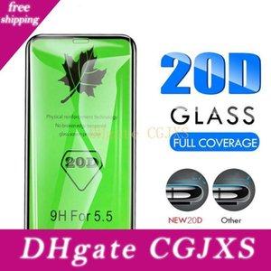 Cristal 20d de borde curvado completo cubierta protectora para Iphone 11 Pantalla Pro Max X Xr X templado protector para Iphone 7 8 Plus 6s 6 Glass Film