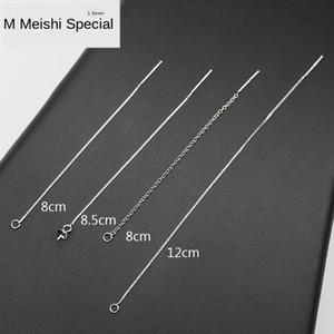 S925 серебро Earline аксессуары позолоченные поделки Pearl Diy Tray серьги лоток earchain кисточкой серьги