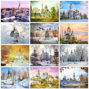 Inverno Diamante Evershine diamante bordado Pintura de paisagem Venda Igreja Rhinestone Imagem Mosaic Full Set Decoração