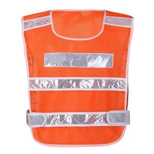 Maglia di visibilità per l'abbigliamento Giallo Traffico del motociclo guida notturna riflettente di sicurezza della bicicletta Outdoor Sports Vest