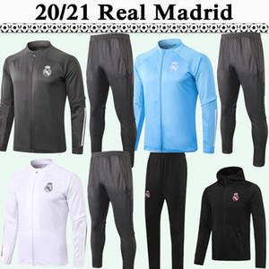 20 21 Hazard fecho fechado camisas camisas terno mariano kroos benzema safira azul verde jaqueta preta definir calças top jerseys de futebol