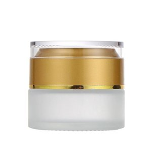 30G Refillable Glass Cosmetic Cream Jar With Silver Gold Cap Lid Lid Frosted Glass Lotion Concealer Eye Cream Jar Wholesale DHD1111