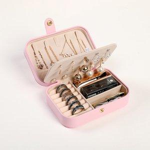 PU bijoux simples Lipstick taille basse oreilles anneau portable rouge à lèvres boîte à bijoux collier boîte de rangement multi-fonctionnelle