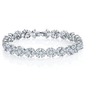 Fashion Bracelet Shiny Zircon New Jewelry Bracelet Style Jewelry Austrian Crystal Femme Women Link Chain Bangles