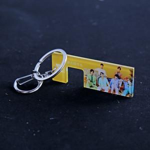 케이팝 Monsta X 잃은 어린이 이동 세븐틴 Got7 세븐틴 열쇠 고리 열쇠 고리 전화 Hodler 팬 컬렉션 b165