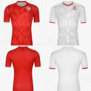 2020 تونس لكرة القدم جيرسي # 7 MSAKNI # 10 KHAZRI قميص رجالي # 23 السليطي الرئيسية بعيدا الزي الرسمي لكرة القدم