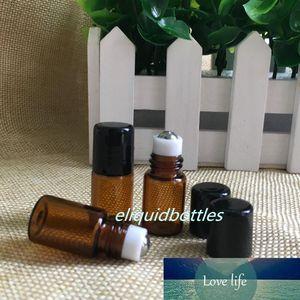 Livre Dropper DHL envio de rolos frascos de 2ml tubo fino Amber vidro Roll-On garrafas mini portáteis Perfume Roll On Bottle