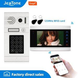 Tuya Smart App Remote Control WiFi IP Video Door Phone Video Intercom Access Control Motion Detection Code Keypad with