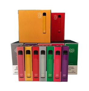 2020 퍼프 바 플러스 일회용 Vapes 장치 포드 키트 카트리지 Vape 3.2ml 800 puffbars 펜 (20) Flavs Vape 장바구니 포장 전자 담배를 비 웁니다