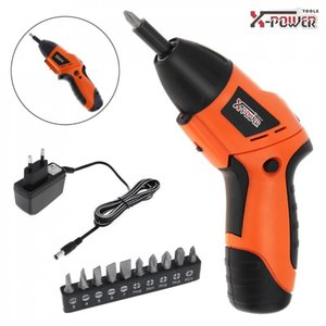 New Mini 100~240V Handle Rechargeable Electric Screw Driver Two-way Rotating Head with LED Lighting and Bidirectional Switch
