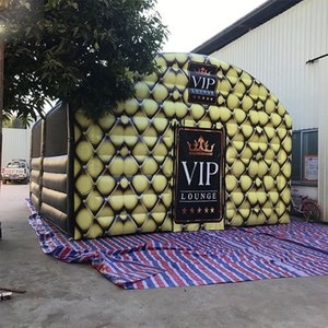 7.6x6.1x4.4m Inflatable lounge tunnel club tent full printing VIP Lounge room event shelter pub bar marque with continuous inflating blower