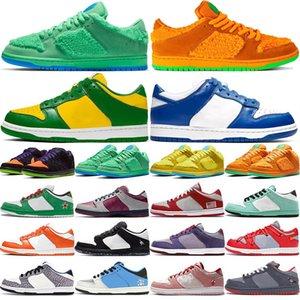 2020 SS nouvelle couleur Hommes Femmes Skateboard Chaussures chaussures pour hommes femmes chaussures de sport DUNK blanc vert jaune faible jeunesse étudiant occasionnel en cours d'exécution