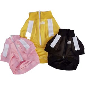 Simple Letter Pet Coats Fashion Zipper Pattern Pets Jackets High Grade Soft Touch Bichon Sweater Apparel