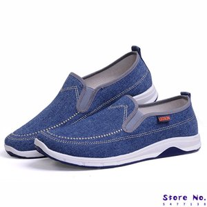 Men Canvas Shoes Fashion Men Loafers Denim Casual Shoes 2020 Youth Loafers Comfort Sneakers Moccasins Male Walking