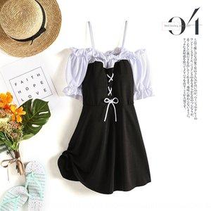 ciW5j 2020 kız sticker muhafazakar yenilikçi tek parça elbise tarzı öğrenci sıcak springstyle göbek dar elbise vücut çıkartmalar mayo