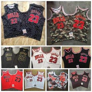 Mens Mitchell 23 JD Mitchell Ness 1996/97 1997/98 HardwoodsChicagonbaBullsClassici autentica MJ Player Jersey 2020