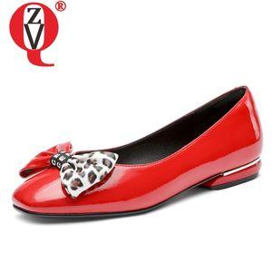 ZVQ haute qualité femmes chaussures plates arc motif léopard mode mocassins en cuir verni artificiel mules fête d'automne printemps chaussures