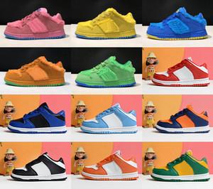 2020 sb dunk مكتنزة dunky jumpman 1 منخفضة الاطفال أحذية كرة السلة الجلود مصمم الآيس كريم الفتيان الفتيات سكيت أحذية رياضية الحجم 24-35