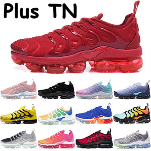 Inoltre TN sbiancato corallo uomini puri pattini correnti delle donne triple rosso nero bianco rosa gioco mare reali fucsia laser psichici scarpe da ginnastica rosa mare