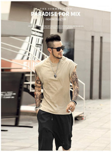 Knitwear Undershirt Wide Shoulder Vest Bodybuilding Tank Top Casual Men Summer Solid Color Tshirs Mens Sleeveless