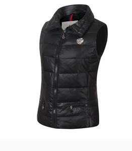 otoño invierno, encomienda cuello alto de las mujeres abajo concede al aire libre sin mangas abajo chaqueta gruesa caliente hacia abajo jackeOuterwear Coats