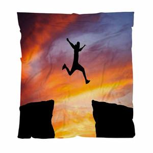 Теплый Твердотопливные Одеяла фланель Одеялки мягкий, человек прыгает по всему, легкий теплый плед на кровать Couch диван на открытом воздухе Путешествия