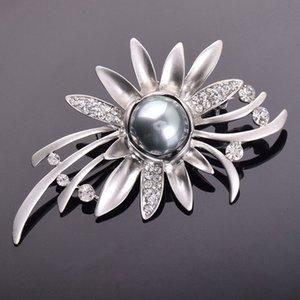 Y002 youzun boutique di perle stile coreano di fascia alta di cristallo di cristallo spilla fiore squisito sposa spilla di perle PN1NT