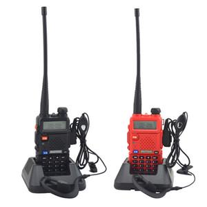 Freeshipping рации уф-5R двухдиапазонный двухстороннее радио VHF / UHF 136-174MHz 400-520 МГц FM-портативный трансивер с наушником
