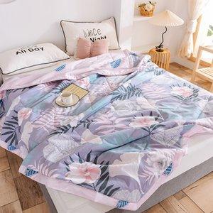 Conjuntos Conjuntos Thin Summer Quilt Ar-ar condicionado Costura de algodão tecido poliéster gêmeo cama de casal