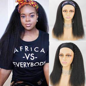 Kinky Düz Kafa Tutkalsız Peruk İnsan Saç Peruk Remy Brezilyalı Tam Makine Halısı Peruk İçin Kadınlar