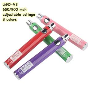 650 mah UGO-V3 Battery adjustable voltage 8 colors for option 510 thread EGO thread good quality