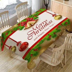 Natale Decorazione della tavola della copertura del panno Table Cover rettangolare pranzo decorazioni domestiche hotel partito Festival