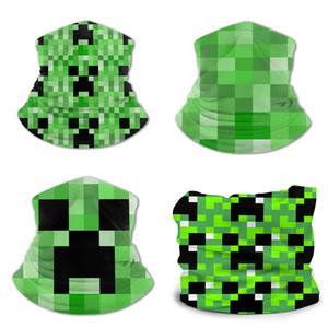 Minecraft hielo babero de seda de poliéster de impresión adolescente amoniaco pañuelos, mascarillas, muñequeras, collares, cintas para la cabeza, la cabeza, máscaras sombrero de pirata