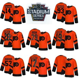 79 Carter Hart Philadelphia Flyers Hockey Jerseys 28 Claude Giroud 53 Gostiberg 93 Volacek 11 Konigini 9 Provorov Jersey Customize any name