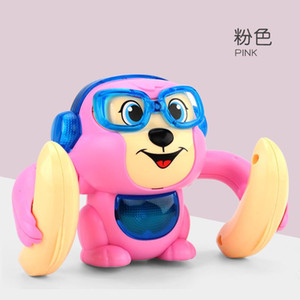 Interesting electric rolling little monkey flip over crawling sound and light boy girl baby baby educational toy