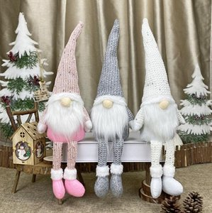 Christmas Dolls Decoration No Face Dolls No face Santa Claus Nordic Style Faceless Plush Doll Kids Novelty Gift Toys Window Ornament OWA1486